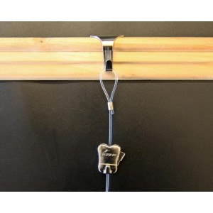 STAS picture rail moulding hook + cord with loop + zipper