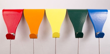coloured picture rail hooks