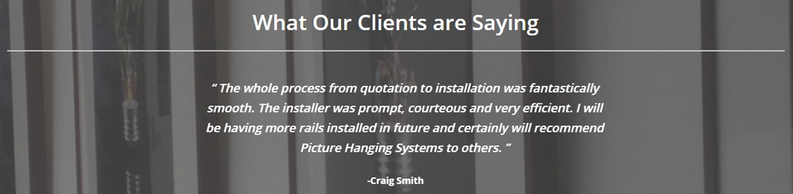 Picture Hanging System installation